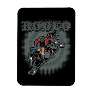 Rodeo Bareback Bronc Rider Rectangular Photo Magnet
