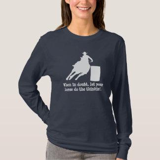 Rodeo Barrel Racing Silhouette T-Shirt