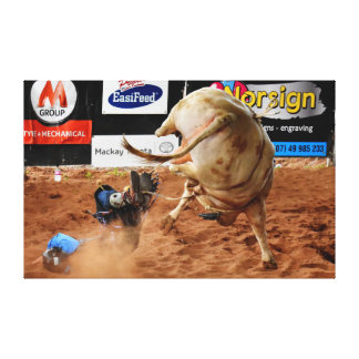 RODEO BULL & RIDER QUEENSLAND AUSTRALIA CANVAS PRINT