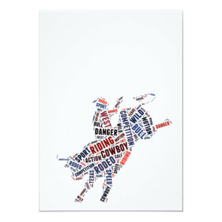 """Rodeo competition 5"""" x 7"""" invitation card"""