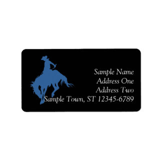 Rodeo Cowboy Address Label
