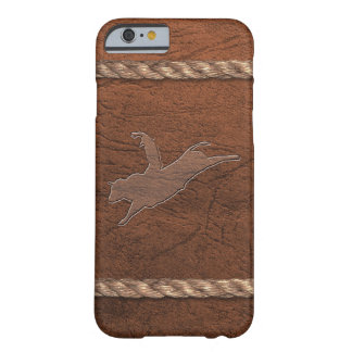 Rodeo Cowboy - Bull Rider Leather & Rope Barely There iPhone 6 Case