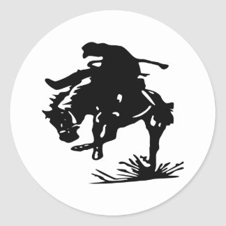 Rodeo Cowboy Classic Round Sticker