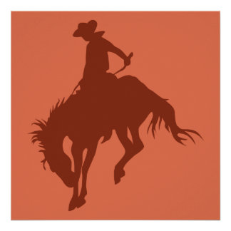 Rodeo Cowboy in Sienna Poster