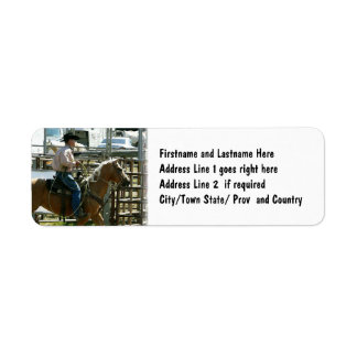Rodeo Cowboy on Horseback Return Address Label