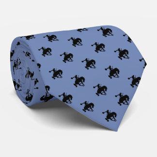 Rodeo Cowboy Pattern   Blue Grey Tie