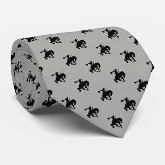 Rodeo Cowboy Pattern   Grey Tie