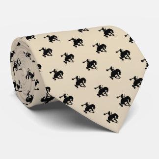 Rodeo Cowboy Pattern   Orange Tie