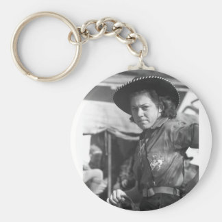 Rodeo Cowgirl: 1940 Key Chain