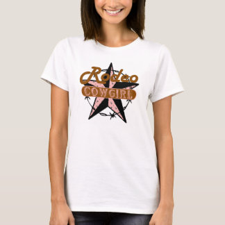 Rodeo Cowgirl Brown and Pink T-Shirt