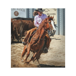 rodeo cowgirl canvas