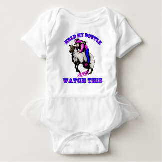 "Rodeo Cowgirl Mutton Bustin""  Bottle Watch This Baby Bodysuit"