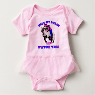 "Rodeo Cowgirl Mutton Bustin""  Watch This Baby Bodysuit"