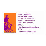 RODEO CUTTING STOCK HORSE BUSINESS CARDS COWBOY