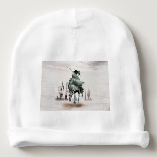 Rodeo - double exposure  - cowboy - rodeo cowboy baby beanie