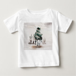 Rodeo - double exposure  - cowboy - rodeo cowboy baby T-Shirt