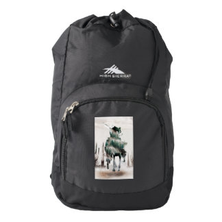 Rodeo - double exposure  - cowboy - rodeo cowboy backpack