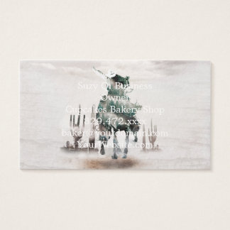 Rodeo - double exposure  - cowboy - rodeo cowboy business card