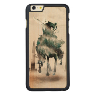 Rodeo - double exposure  - cowboy - rodeo cowboy carved maple iPhone 6 plus case