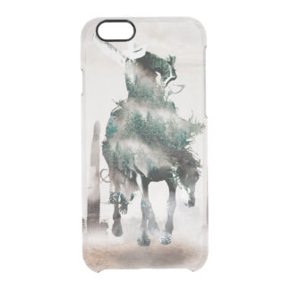 Rodeo - double exposure  - cowboy - rodeo cowboy clear iPhone 6/6S case