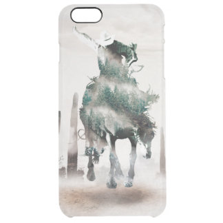 Rodeo - double exposure  - cowboy - rodeo cowboy clear iPhone 6 plus case