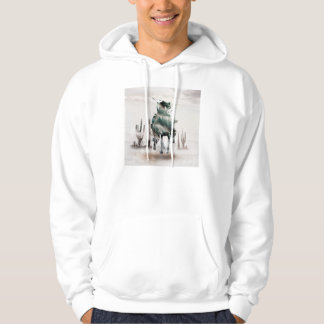 Rodeo - double exposure  - cowboy - rodeo cowboy hoodie