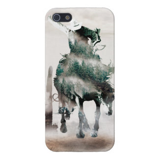 Rodeo - double exposure  - cowboy - rodeo cowboy iPhone 5 cover