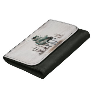 Rodeo - double exposure  - cowboy - rodeo cowboy leather wallets