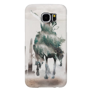 Rodeo - double exposure  - cowboy - rodeo cowboy samsung galaxy s6 cases
