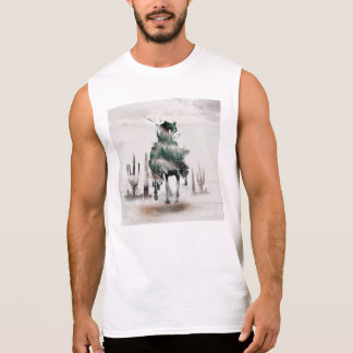 Rodeo - double exposure  - cowboy - rodeo cowboy sleeveless shirt