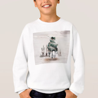 Rodeo - double exposure  - cowboy - rodeo cowboy sweatshirt