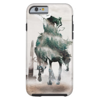 Rodeo - double exposure  - cowboy - rodeo cowboy tough iPhone 6 case