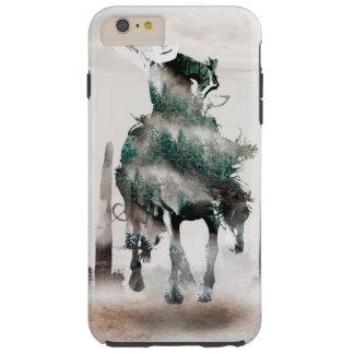 Rodeo - double exposure  - cowboy - rodeo cowboy tough iPhone 6 plus case