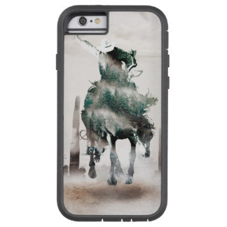 Rodeo - double exposure  - cowboy - rodeo cowboy tough xtreme iPhone 6 case
