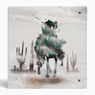 Rodeo - double exposure  - cowboy - rodeo cowboy vinyl binder