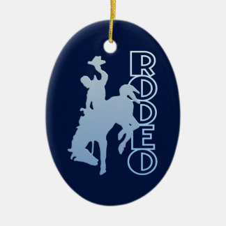 RODEO ornament, customize Ceramic Ornament