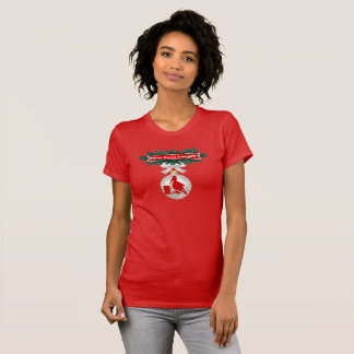 Rodeo Ornaments On Red Holiday Cowgirl T-Shirt