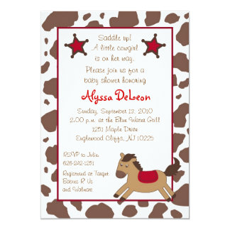 Rodeo Round Up Cowgirl Baby Shower Invitations