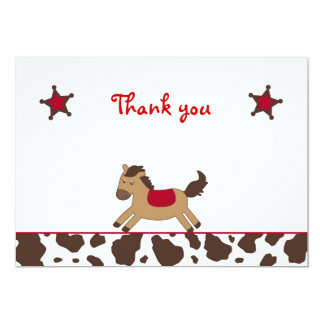 Rodeo Round Up Cowgirl Flat Thank You Note Cards