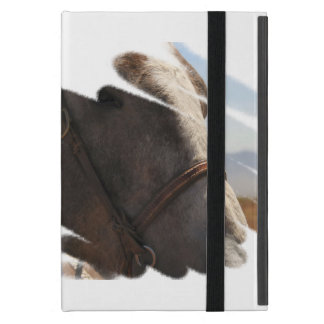 Rodeo Stallion | Horse Head Face Portrait iPad Mini Case