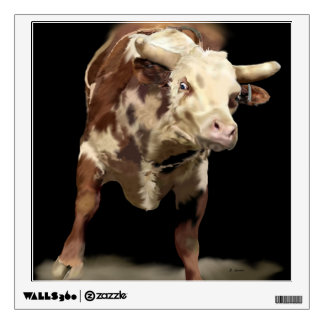 Rodeo Theme Bucking Bull Wall Decal