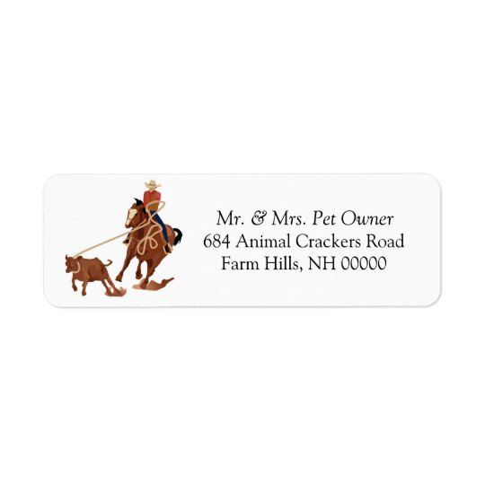 Rodeo Theme Return Address Label Stickers