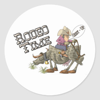Rodeo Time Round Sticker