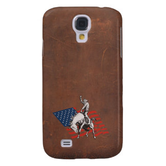 Rodeo USA - America, Cowboy Horse and flag