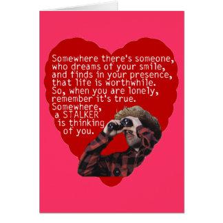 Rôdeur - jour de Valentines drôle Carte De Vœux