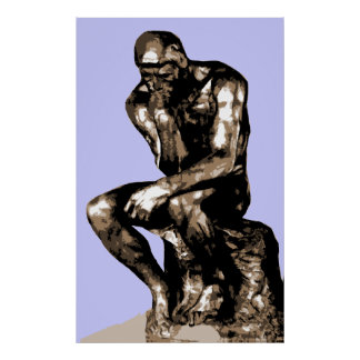 """Rodin """"The Thinker"""" - Canvas Poster"""