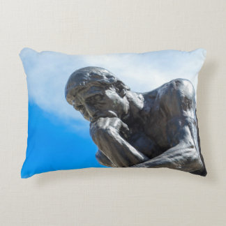 Rodin Thinker Statue Accent Pillow