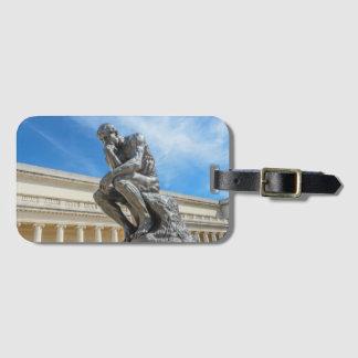 Rodin Thinker Statue Bag Tag