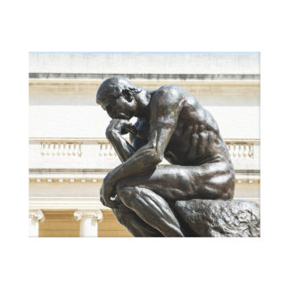 Rodin Thinker Statue Canvas Print