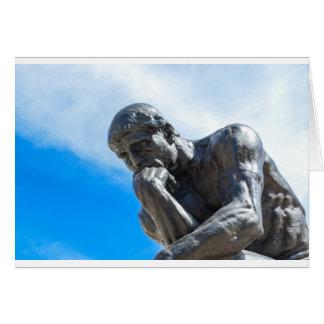 Rodin Thinker Statue Card